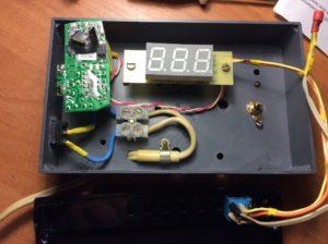 сборка термометра в корпусе