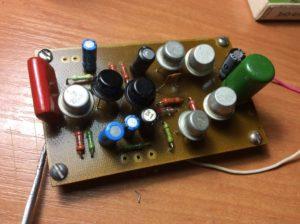 Собранный усилитель НЧ на германиевых транзисторах