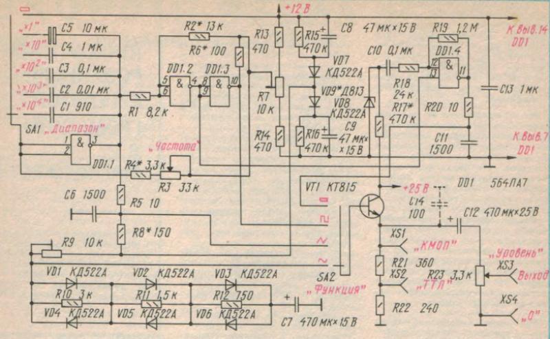 схема функционального генератора