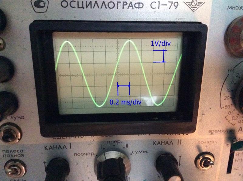 форма выходного сигнала усилитель НЧ